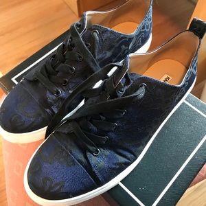 Karl Lagerfeld Damask Navy Blue Patterned Sneakers